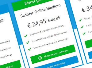 Prijstabel Scooter theoriepakket Wegrijden.nl