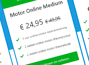 Motor theorie prijstabel vergelijking
